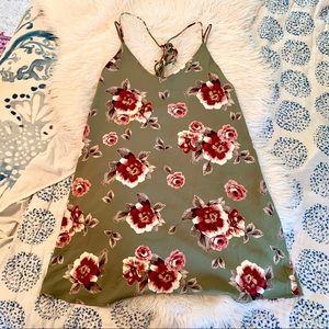 Lulus floral open back dress flowy shift S